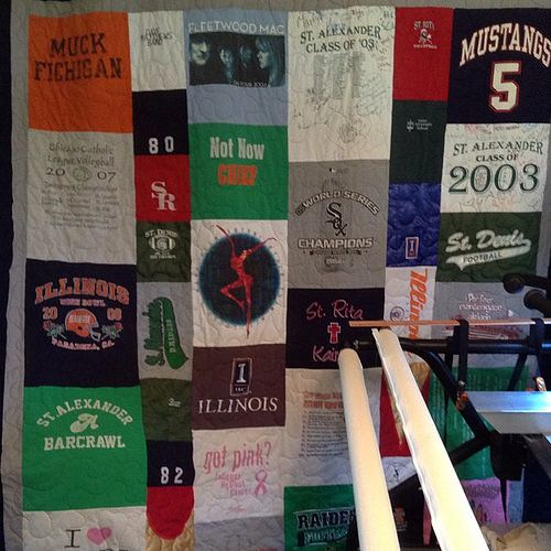 Another Tshirt Memory Quilt I Wonder How Many We Have