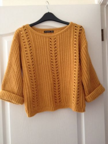 Atmosphere Mustard Thick Knit Jumper Size 10 | eBay