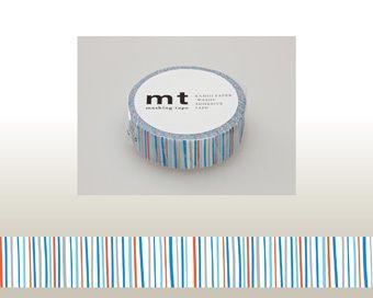 WASHI TAPE - SHIMA AO Marca: MT Masking Tape 1 rotolo di washi tape in carta adesiva da 15mm x 10mt. (MT01D166Z)