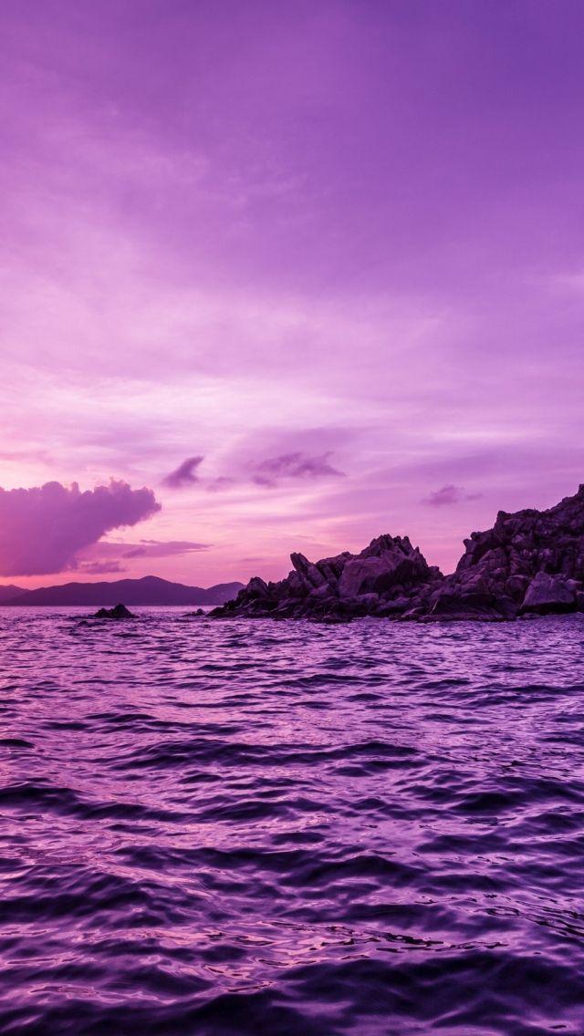 Download Pelican Island Purple Sunset Wallpaper – GetWalls.io