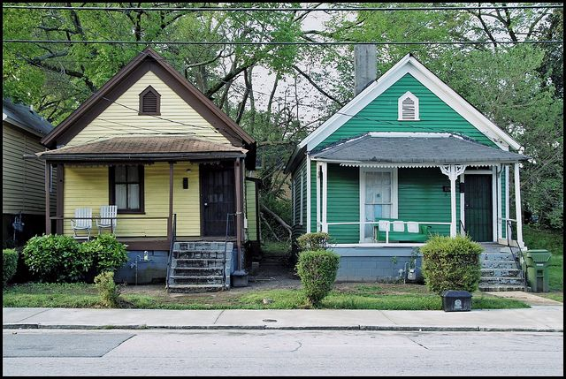 Shotgun Houses In The Old 4th Ward Of Atlanta