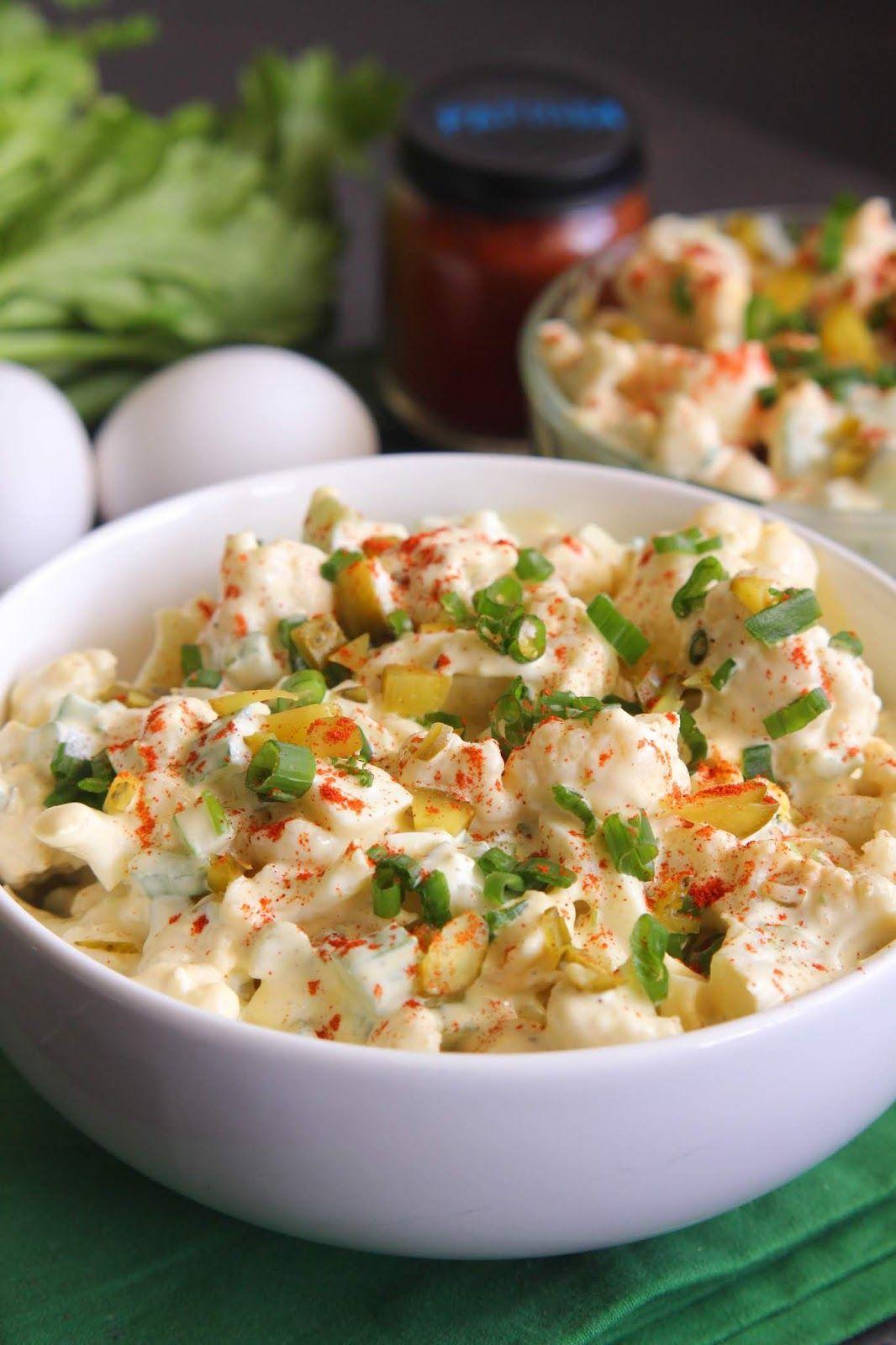 Faux-tato Salad {Keto Friendly}