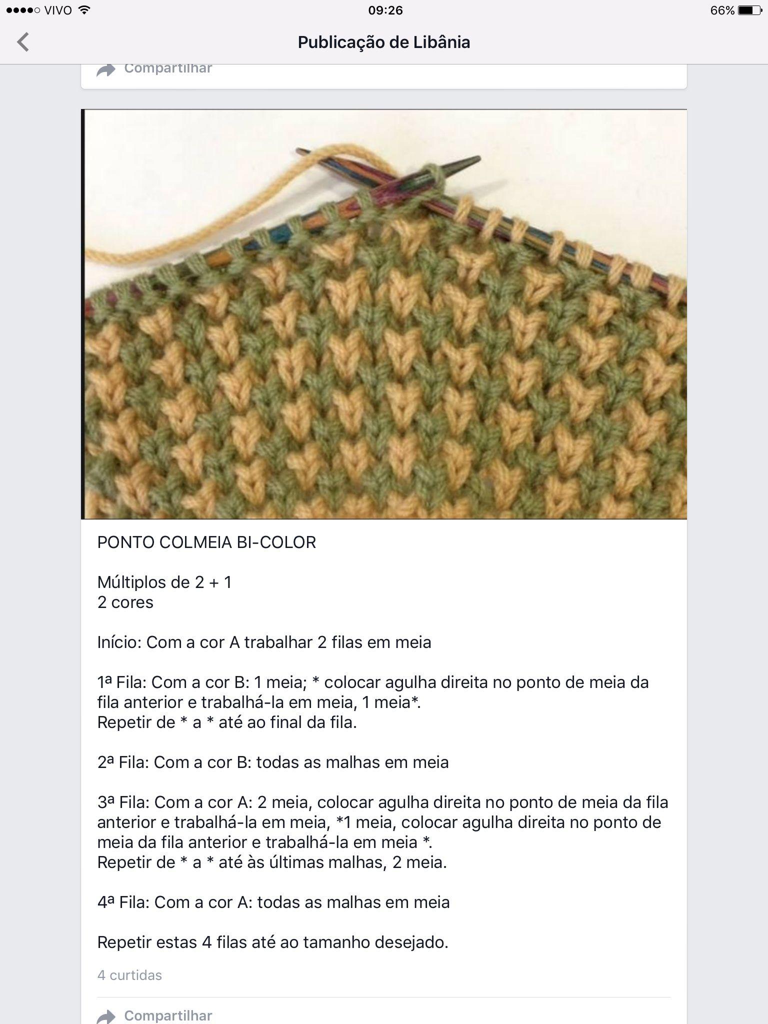Ponto de tricô fantasia   sampler   Pinterest   Crochet fácil ...