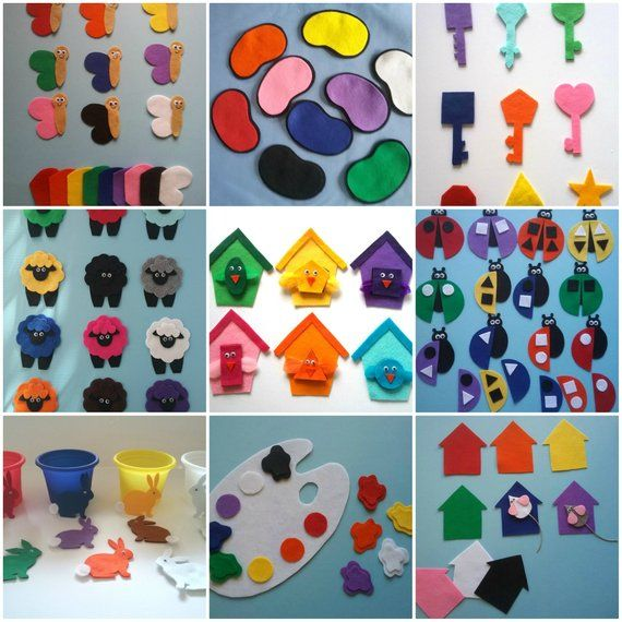 Colors and Shapes Felt Board Patterns, Songs, Flannel Board