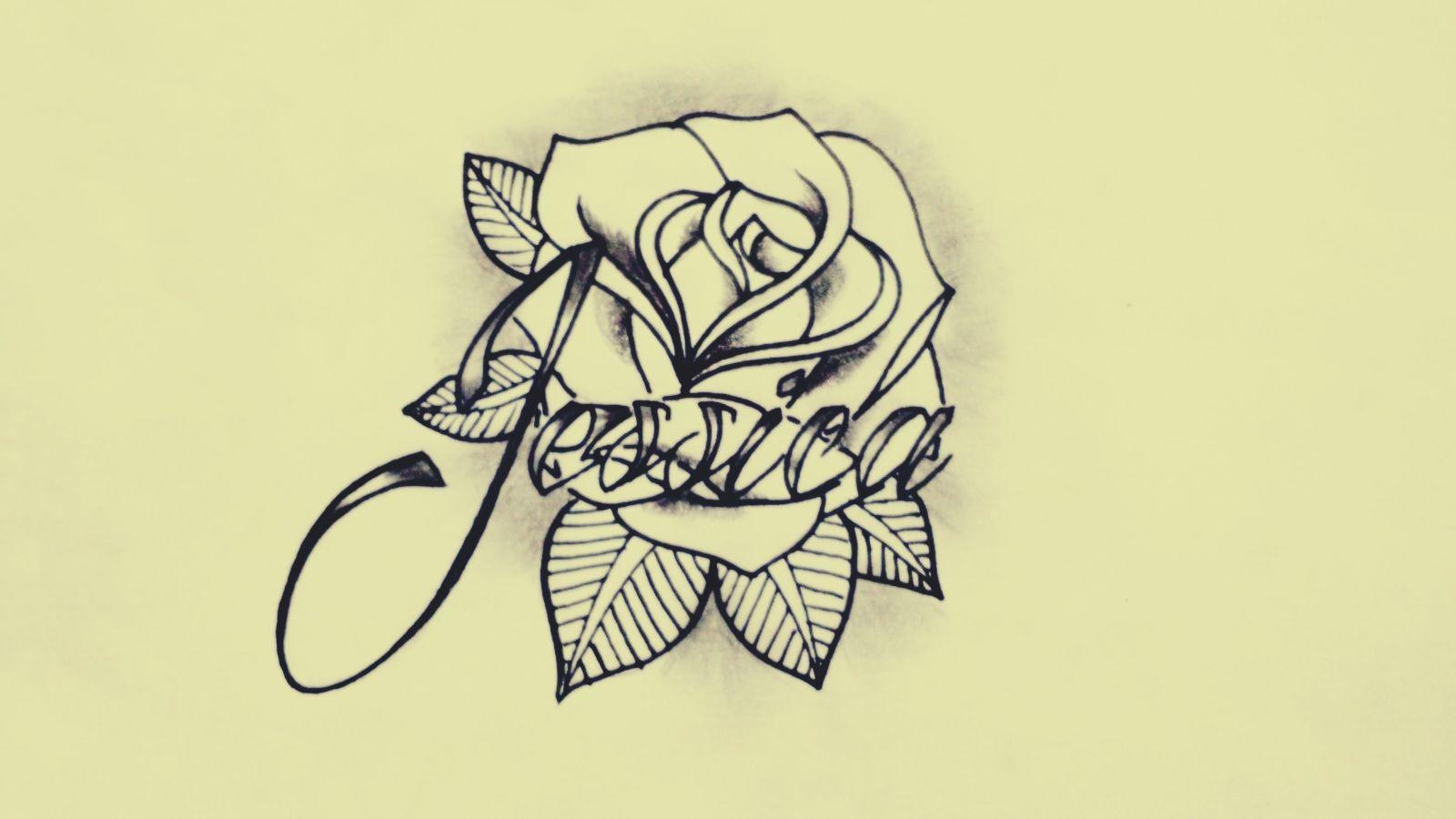 Como Hacer Un Diseño Para Tatuaje rosa tatuaje nombre jessica diseño personalizado | tatuajes