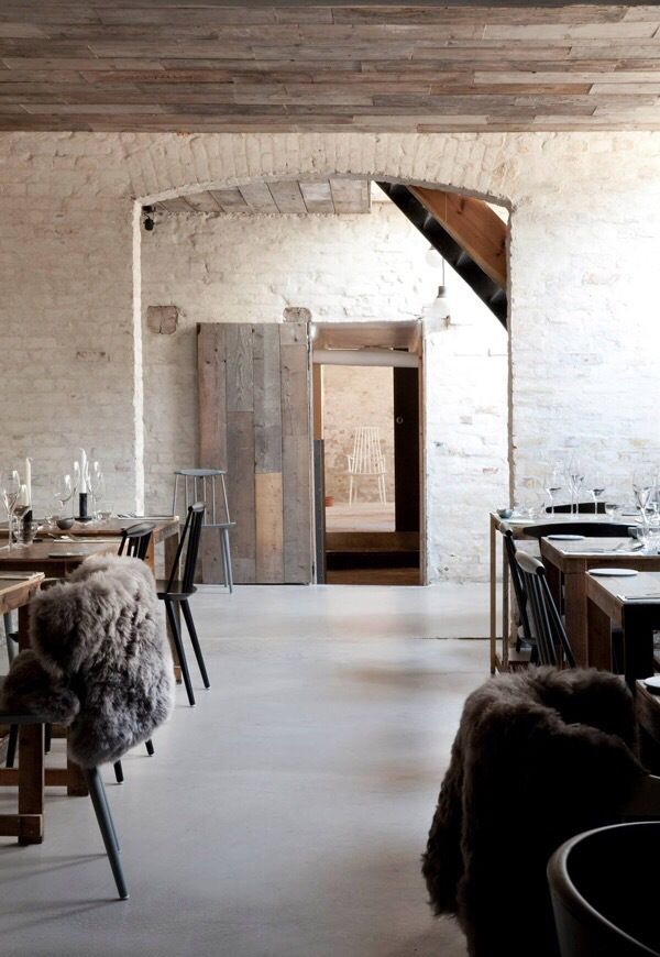 Host Copenhagen Has A Wonderfully Rustic Interior With White Washed Walls And Wooden Ceilings The Place Is Mix Of Urban Industrial Chic