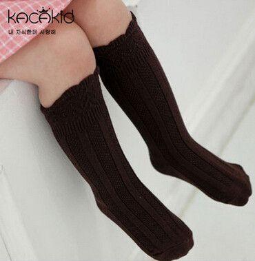 Hot Sale Unisex Baby Socks New Baby 0-24 Months Leg Warmers Floor Sock Infant Boy and Girl Solid Cotton Anti-slip Soft Knee Sock