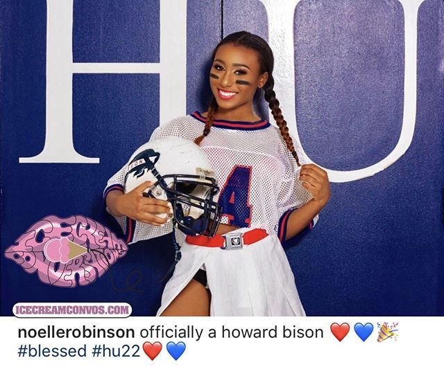 COLLEGE BOUND: #NoelleRobinson excitedly announces she's headed to #HowardUniversity! I'm sure #Leon and #CynthiaBailey are so proud! #IceCreamConvos.com #Congrats #HU #HU22