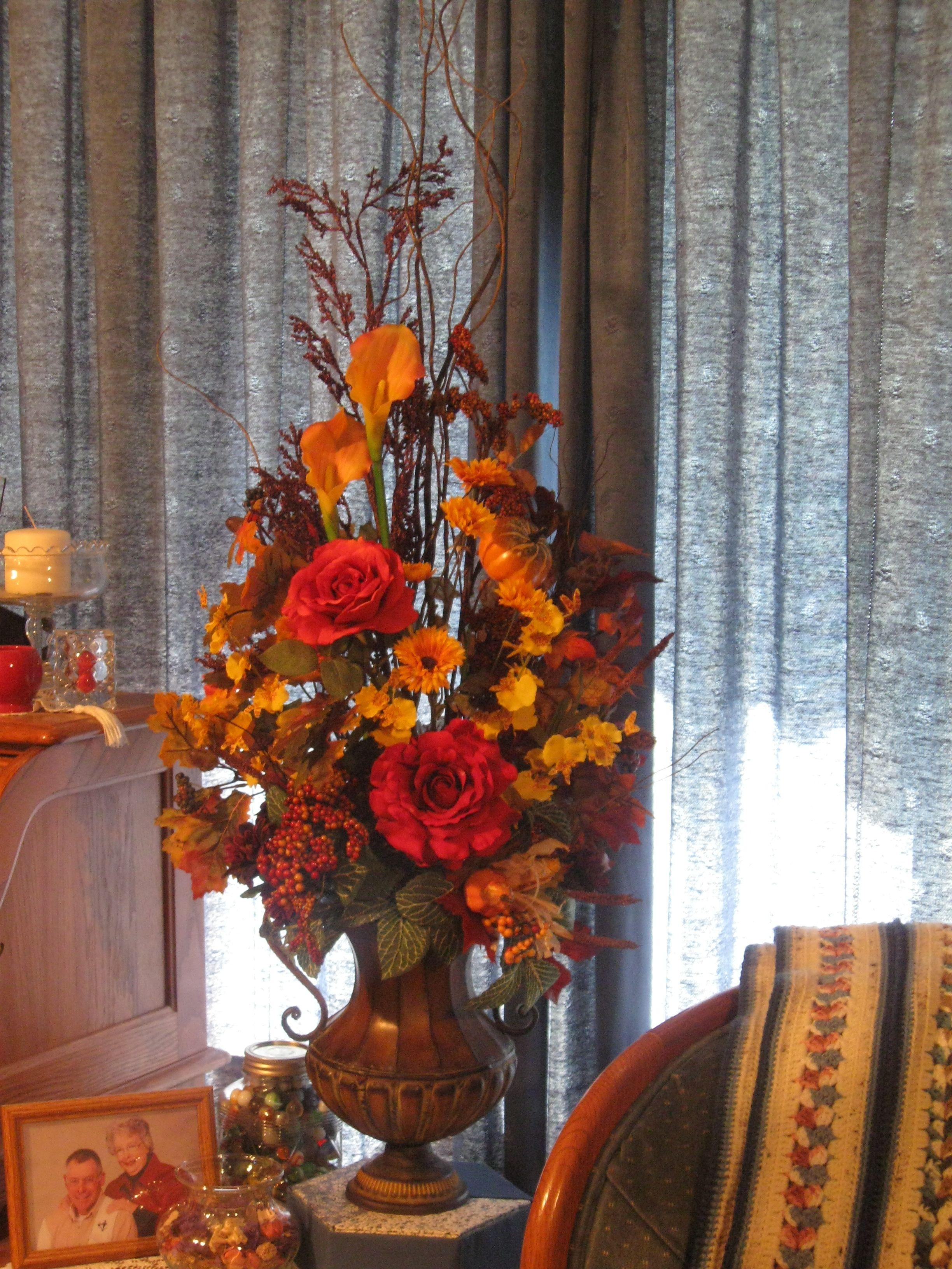 Autumn Silk Flower Arrangement My Creations Pinterest Silk