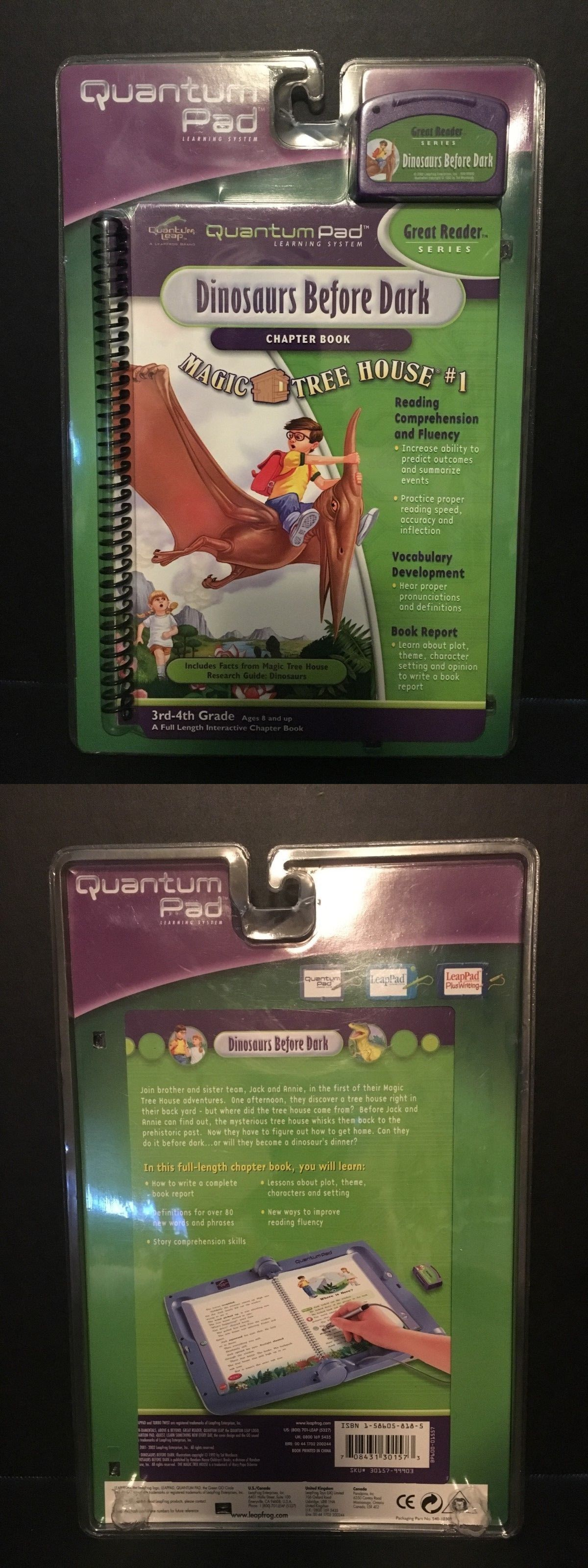 Details About Quantum Leap Pad Game Dinosaurs Before Dark