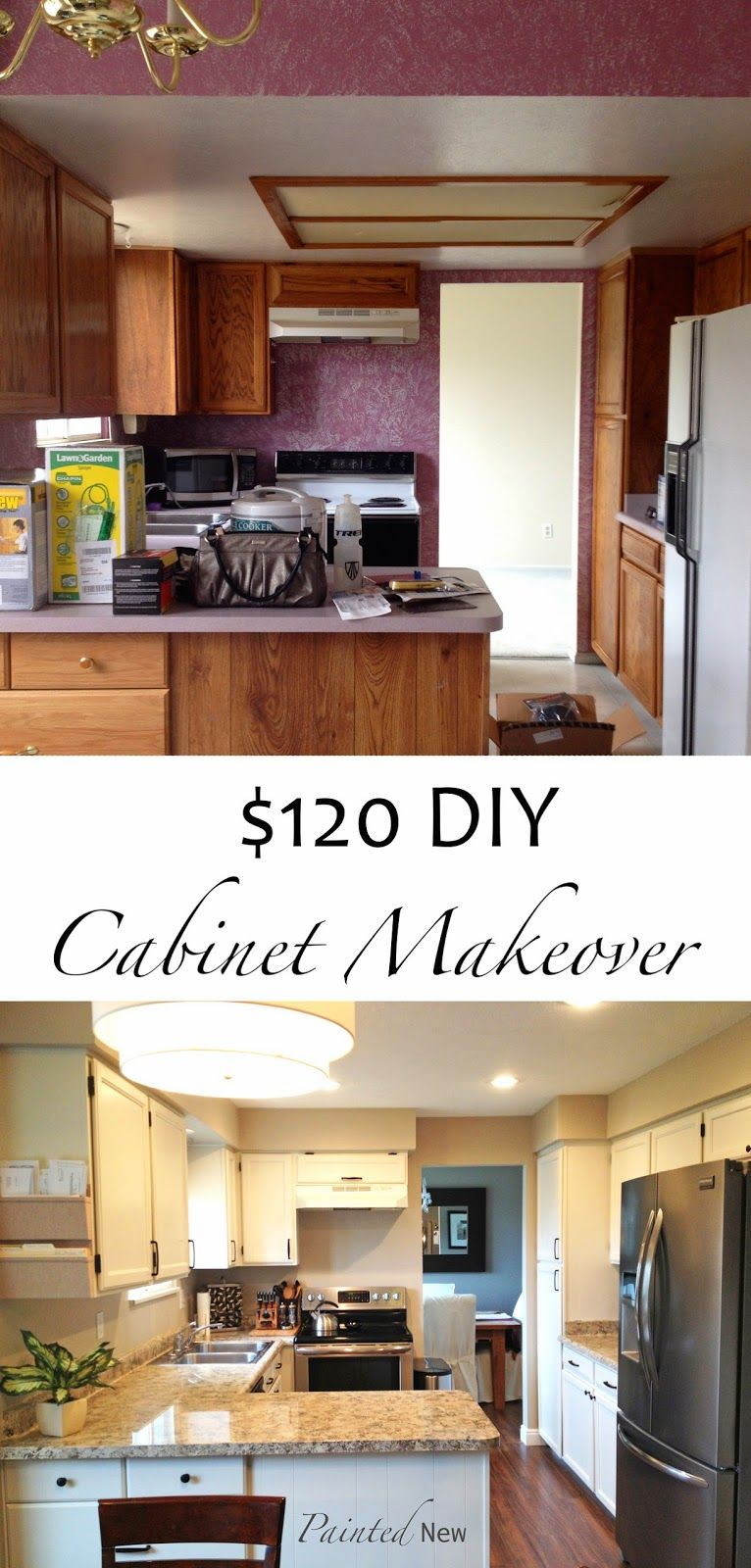 120 Painted Cabinet Makeover Using Sherwin Williams