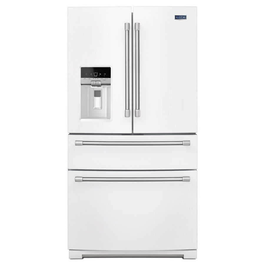 white french door refrigerator. Shop Maytag 26.2-cu Ft French Door Refrigerator With Single Ice Maker (White ) White 6