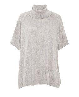 Grey Roll Neck Short Sleeve Jumper  d406f9935