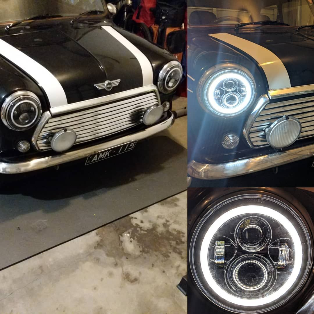 New Led Headlights With Daylight Halo Driving Lights Mini