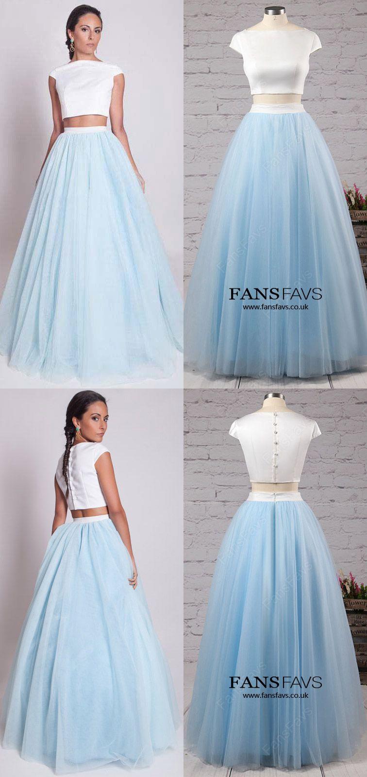 Light Sky Blue Prom Dresses,Long Prom Dresses For Teens,Elegant Prom ...