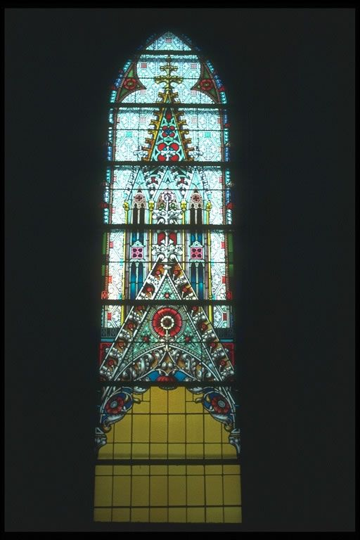 A Major Element Of Gothic Architecture Is Stained Glass Windows They Were Used To