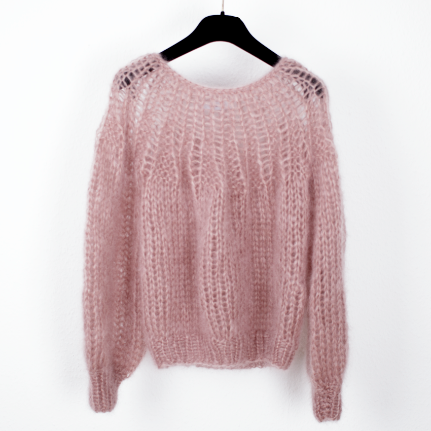 Mohair Pleated Sweater in Antique Pink by Maiami https://www ...
