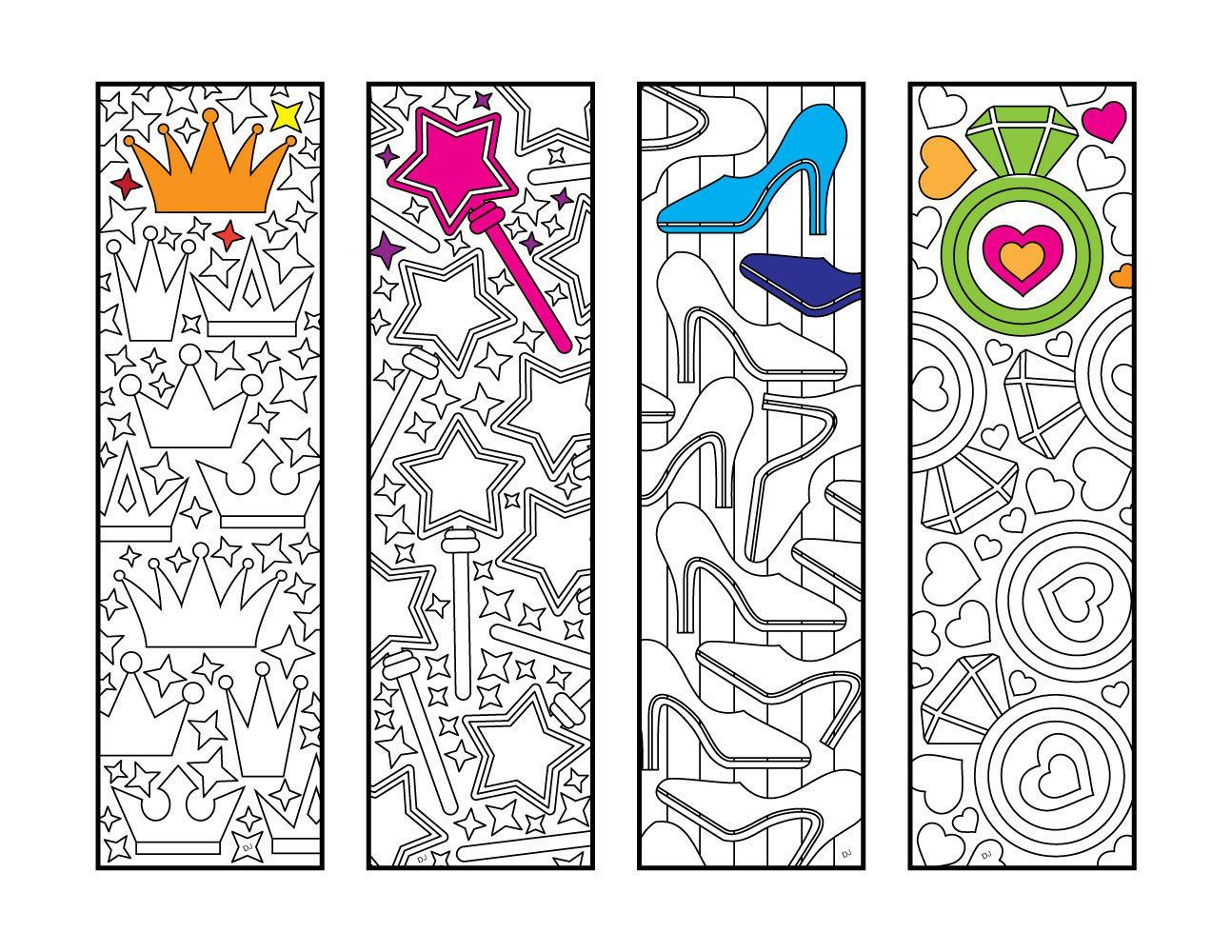 Princess Bookmarks Pdf Zentangle Coloring Page Coloring Pages Coloring Bookmarks Bookmarks Printable