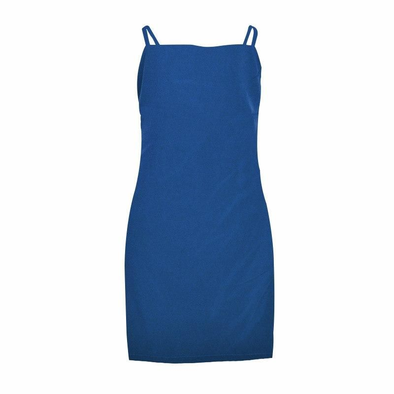 Summer Backless Dress Women Harnessed Beach Sexy Backpack Slim Fit Bodycon Short Dress Vestidos Casual Sundress #shortbacklessdress