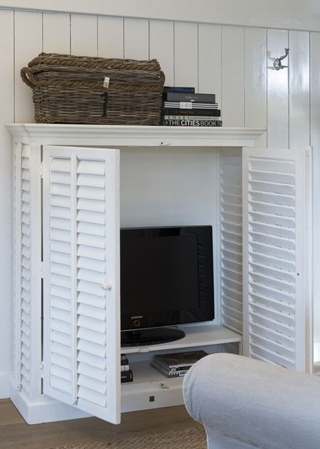 Tv Meubel Riviera Met Louvre Deurtjes.New Orleans Flatscreen Dresser Meubels Kast En Office Thuis