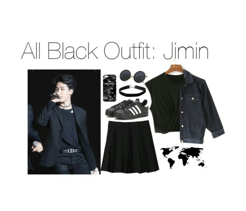 BTS Jimin outfit (All in black) | KPOP outfits | Pinterest | Cintura alta Moda coreana y Ropa