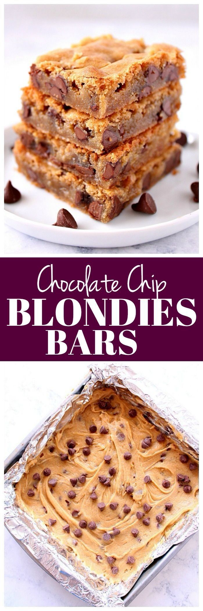 Chocolate Chip Blondies Recipe - buttery cookie bars ...