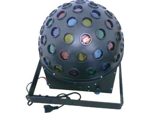 Meia Bola Multi-Raio com Lâmpadas, Áudio-Rítmico, Bivolt: 56 lentes coloridas ou monocromáticas, 3 lâmpadas, sensor, automático, proteção contra superaquecimento. Comprar em http://www.aririu.com.br/meia-bola-multiraio-com-lampadas-audioritmico-bivolt_14xJM