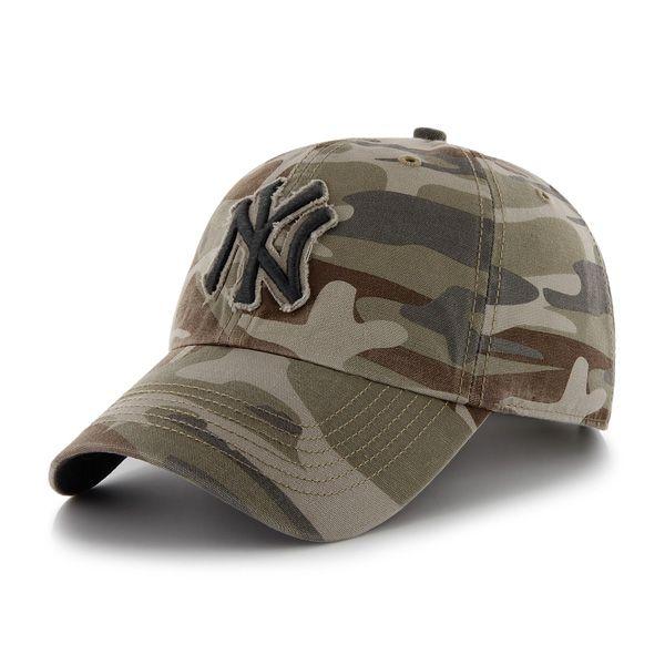 3651bc8f758c20 New York Yankees Tarpoon Faded Camo 47 Brand Adjustable Hat | New ...