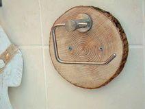 Toilet paper holder wood toilet roll holder – #furnishing ideas #h …