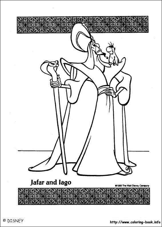 Aladdin coloring picture   Disney\'s Princess Coloring Pages ...