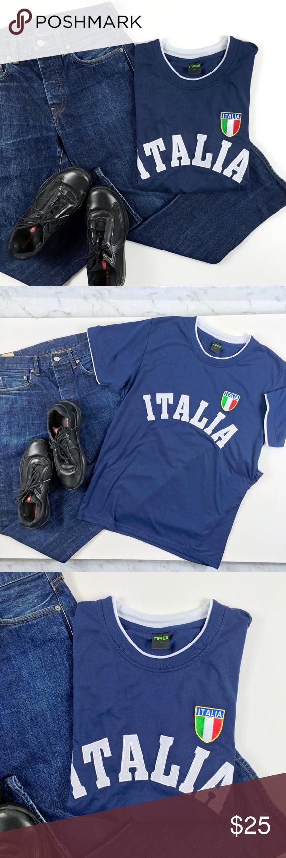 21032693870 Mens ITALIA Italian Fitted T Shirt Mens