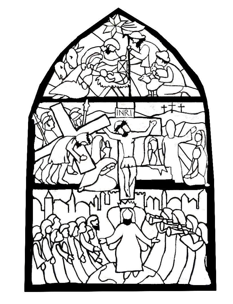 Ausmalbilder Playmobil Strand : Glasfenster Geburt Ostern Pfingsten Ausmalbilder Biblisch