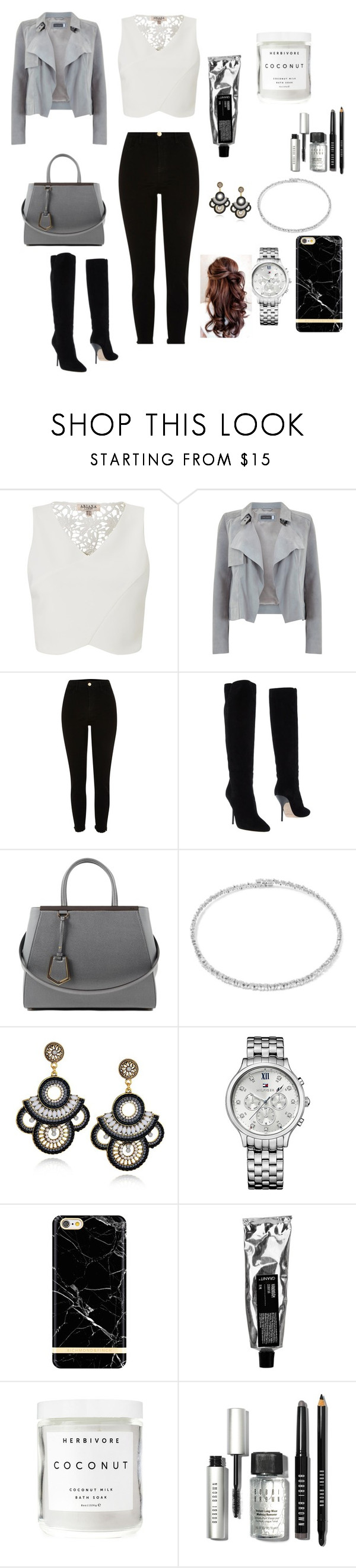 """""""Sin título #103"""" by laura-bernaez ❤ liked on Polyvore featuring Lipsy, Mint Velvet, River Island, Jimmy Choo, Fendi, Suzanne Kalan, Tommy Hilfiger, Herbivore Botanicals and Bobbi Brown Cosmetics"""