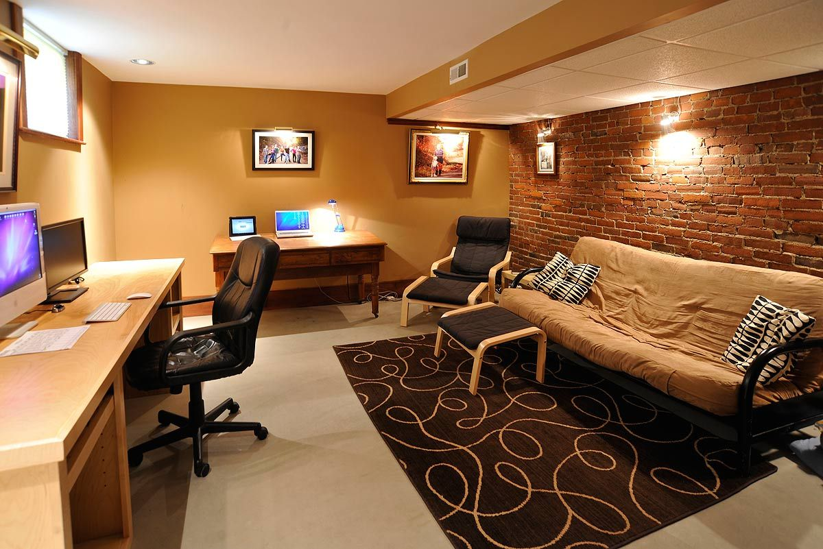 Basement Offices Ideas Another Cool Basement Office Concept Home Is Where The
