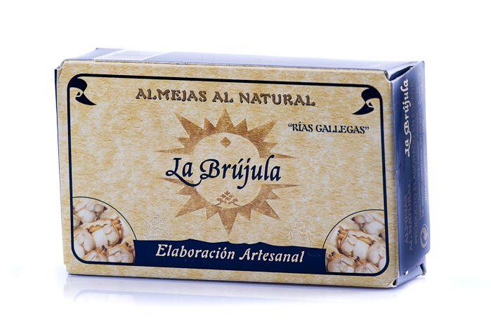 Almejas de la ría La Brújula.  http://tuaperitivo.com/27-conservas-del-mar