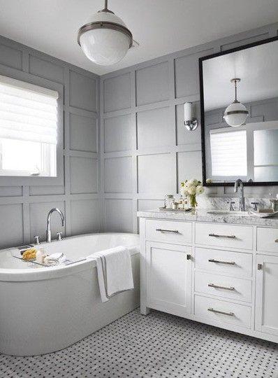 Wainscoting A Lookbook Bathroom Paneling Bathroom Makeover