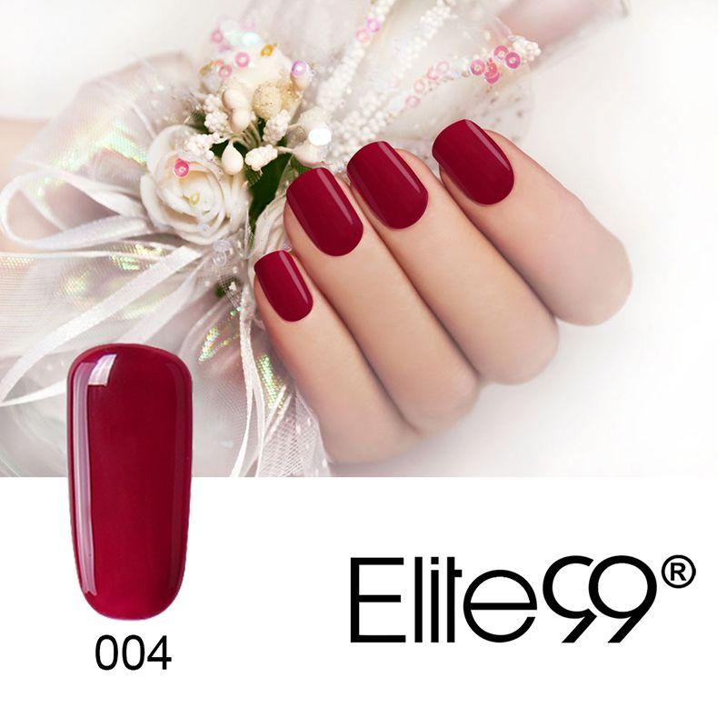 Elite99 vino tinto serie 12 colores de la selección de 1 de uñas de ...