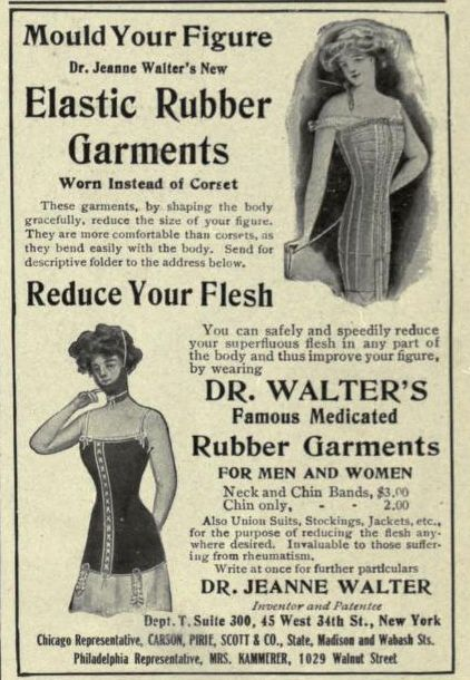 Dr Walter's Medicated Rubber Garments, The Theatre Magazine