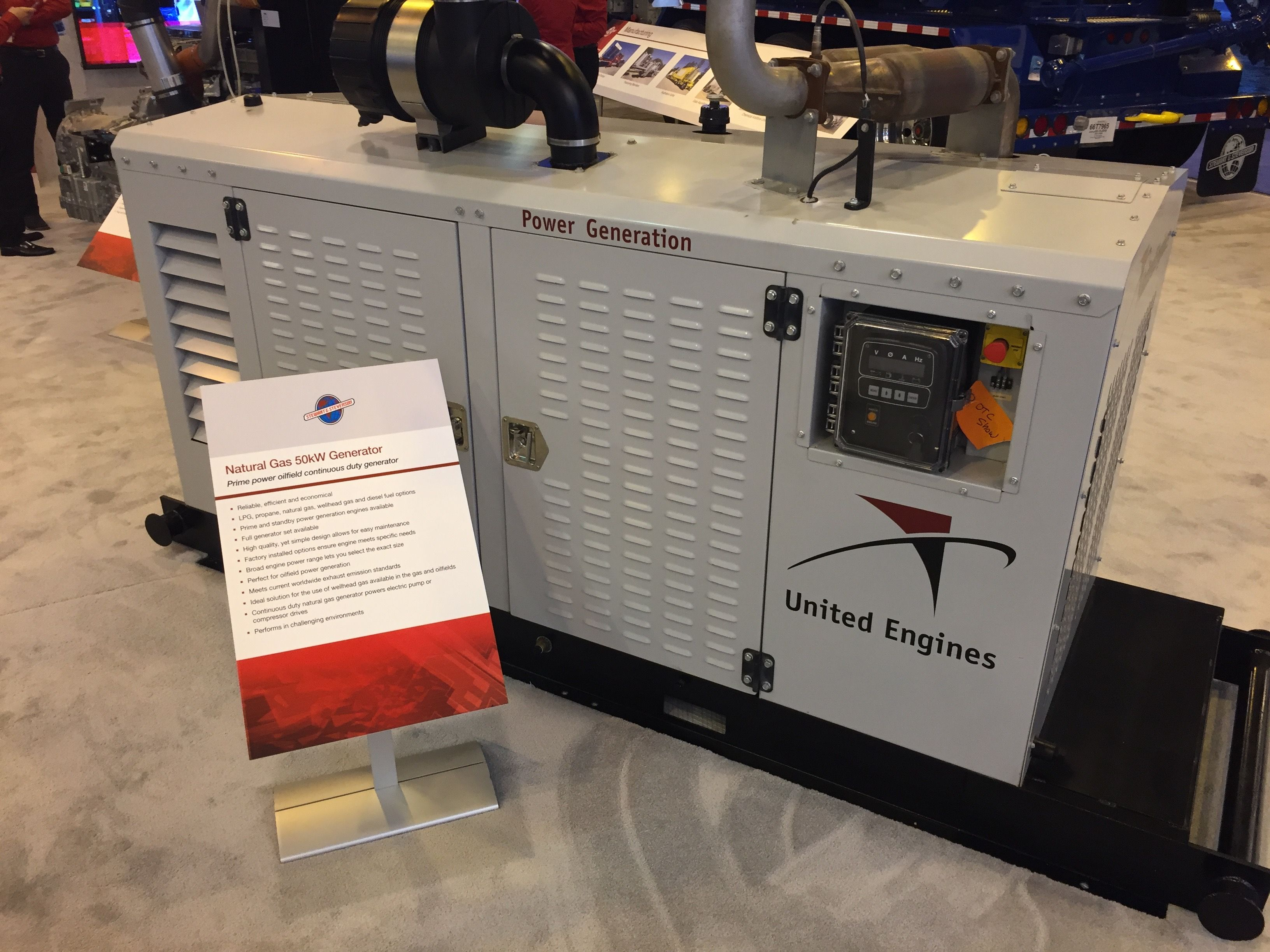 Stop by the Stewart & Stevenson and United Engines booth