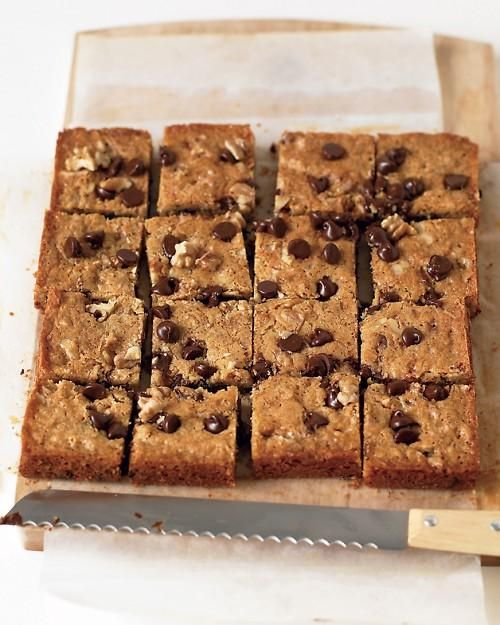 Blondies with Chocolate Chips and Walnuts -- Dad would love