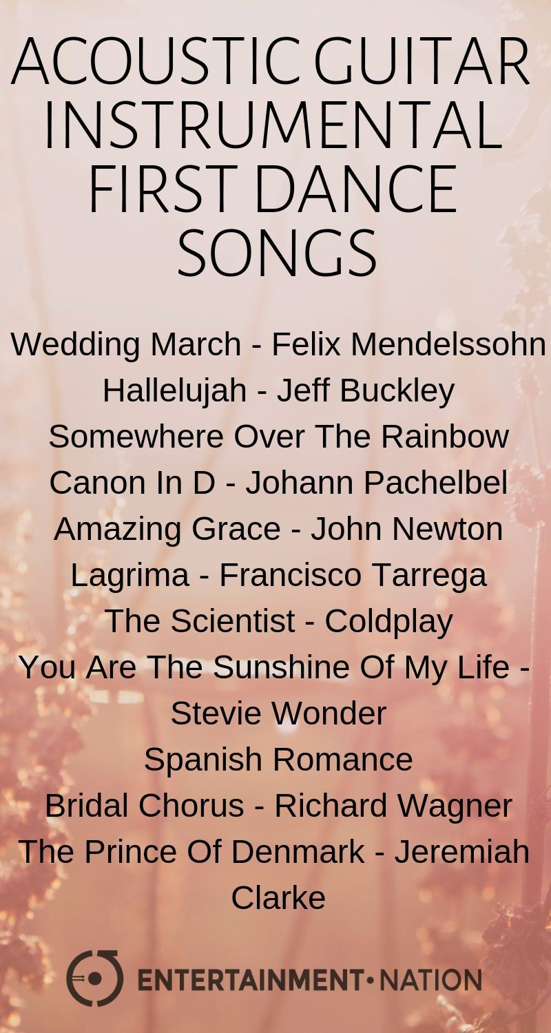 Acoustic Instrumental Wedding Ceremony And First Dance Songs Instrumental Wedding Songs Wedding Ceremony Songs Ceremony Songs