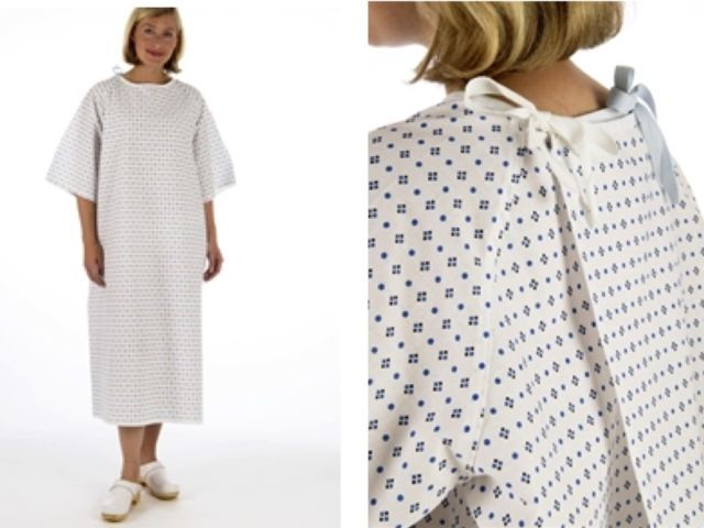 Nhs Wrap Over White Hospital Patient Gown Waist Amp Neck