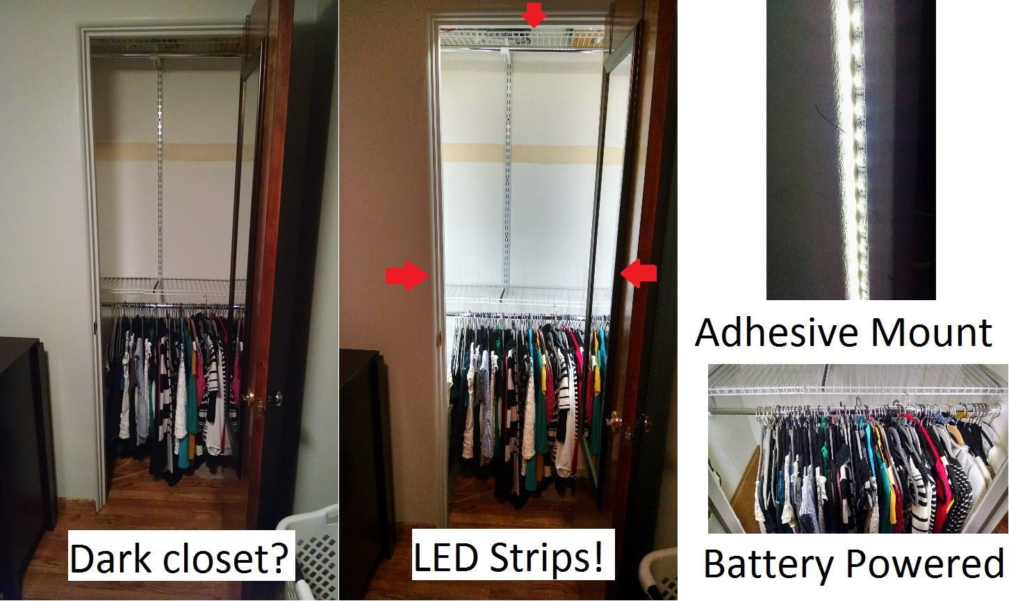 Add Instant And Bright Light To Your Closet Without Drilling Or