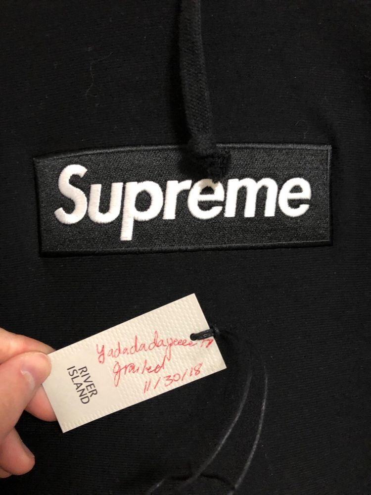 Supreme Black Box Logo Bogo Hoo Large Fw16 Deadstock Fashion Clothing Shoes Accessories Mensclothing Activewear Link