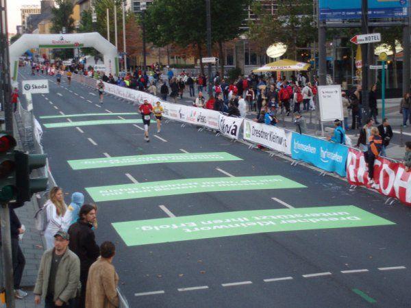 Race participants can run right over Asphalt Art, it's that durable!