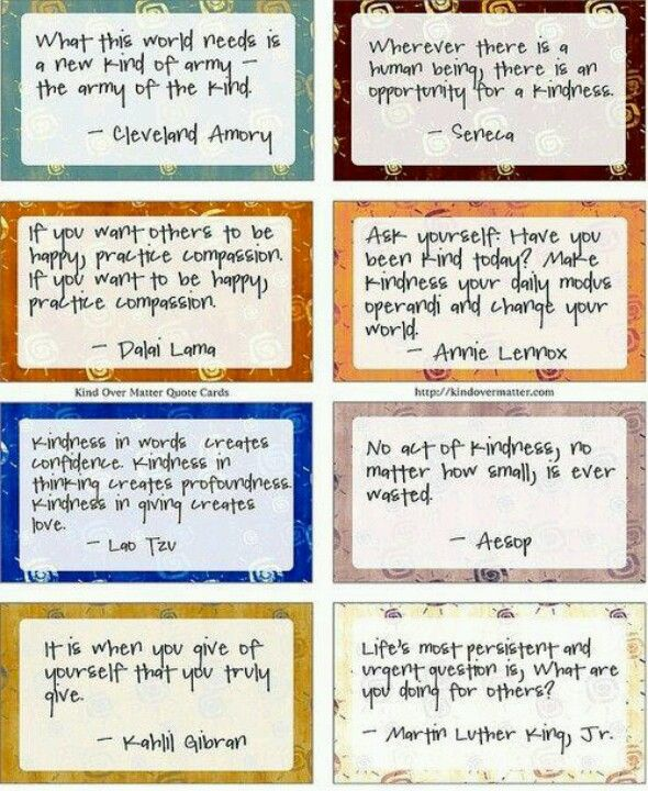 Amazing Life Quotes For Inspiration Free Printable Cards: Kindness Quotes For Work. QuotesGram