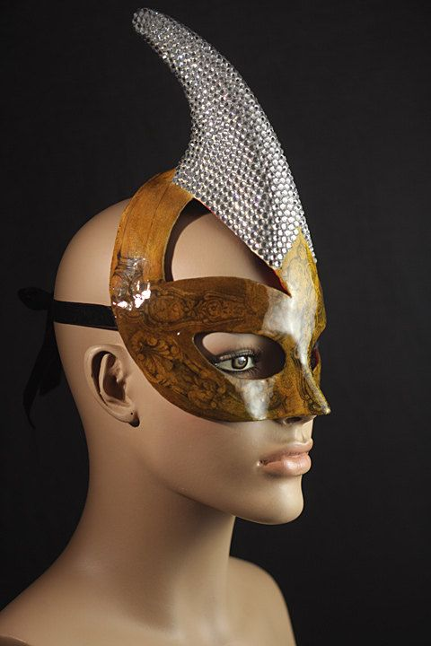 """Elaborate Mask """"Diamond Unicorn"""" - Unique Mask Design handmade with love, Papier Mâché and Swarovski crystals, Exclusive, Styling accessory"""