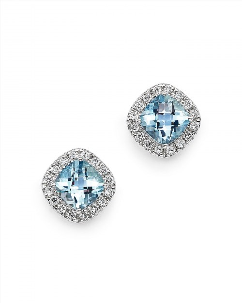 1,350.00$  Watch here - http://visgw.justgood.pw/vig/item.php?t=wzdo01m54554 - Bloomingdale's Aquamarine Cushion and Diamond Stud Earrings in 14K White Gold - 100% Exclusive 1,350.00$
