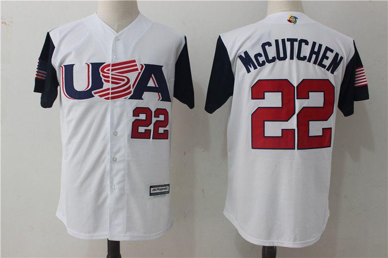 88d0529af9b Men s USA Baseball Andrew McCutchen Majestic White 2017 World Baseball  Classic Jersey http