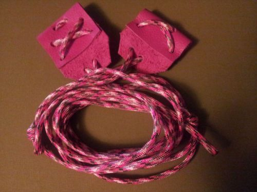 Pink Bow Stringer Recurve Longbow Archery Leather Paracord